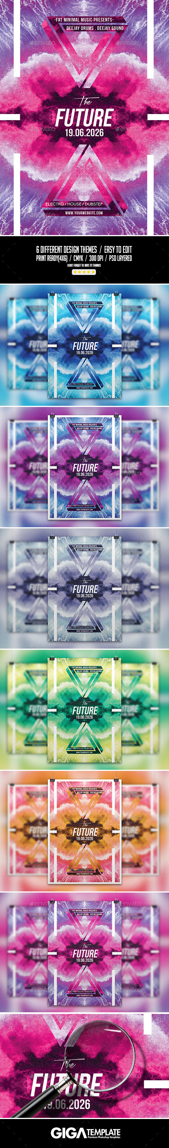 GraphicRiver The Future Electro Abstract Flyer PSD Template 11267938