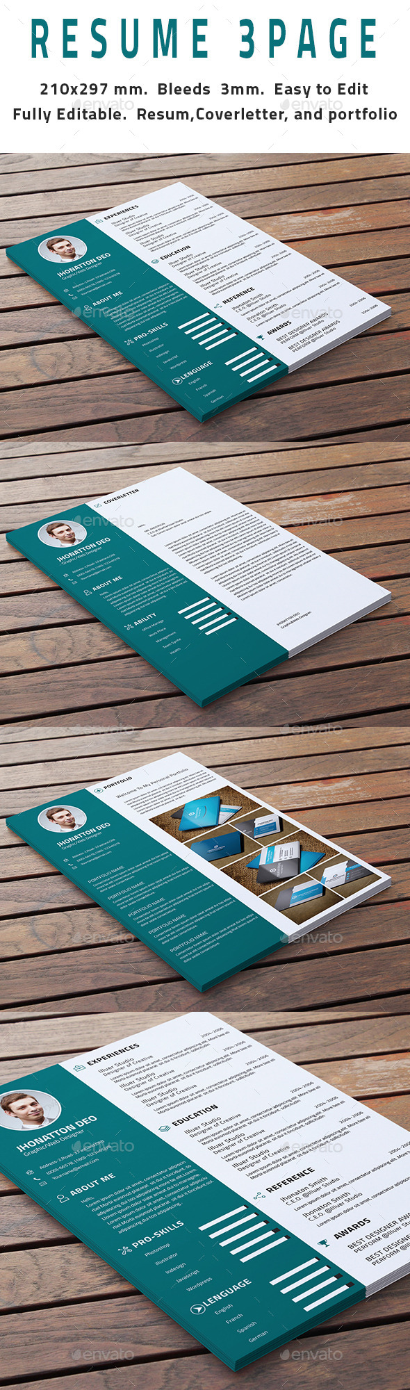 GraphicRiver 3 Page Resume 11267987