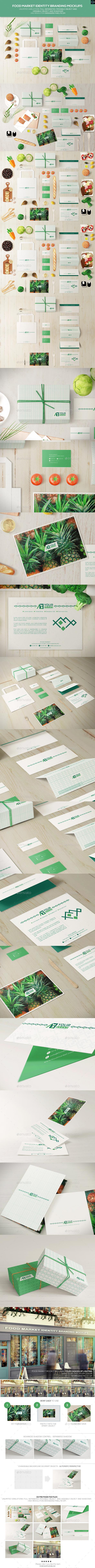 GraphicRiver Food Market Identity Branding Mockups 11268024