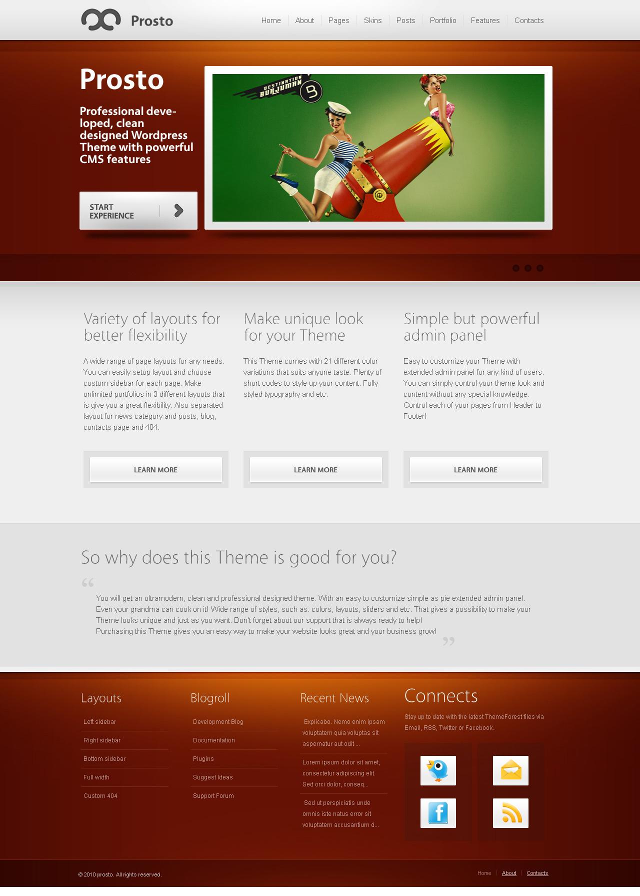 Prosto - Business & Portfolio HTML CSS Theme