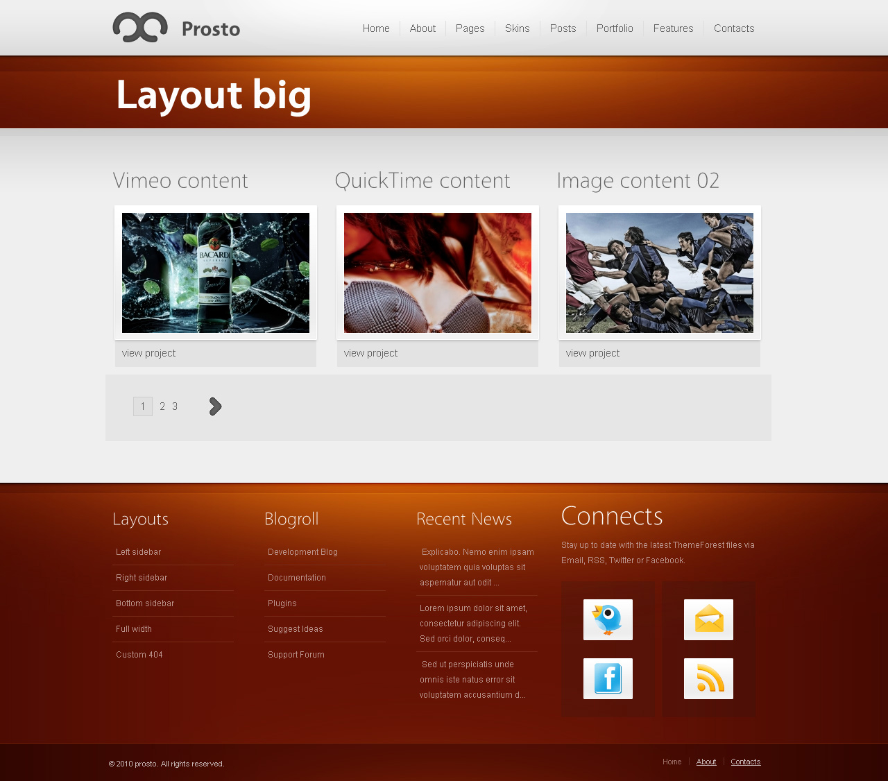 Prosto - Business & Portfolio HTML CSS Theme