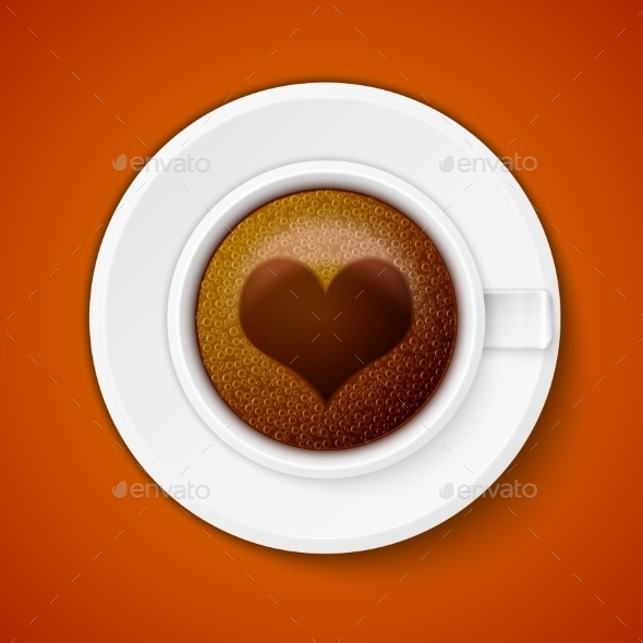 GraphicRiver Cup of Coffee with Heart 11268192