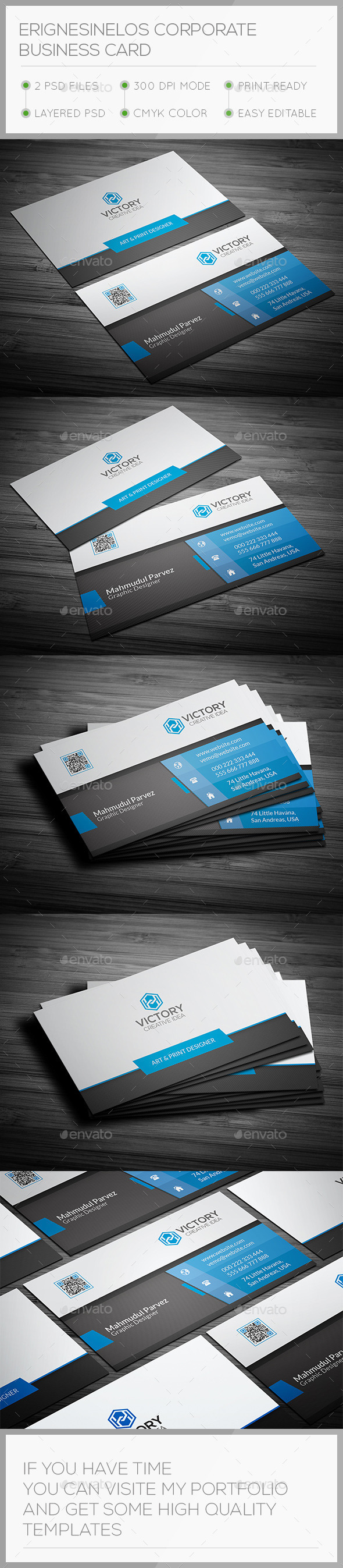 GraphicRiver Erignesinelos Corporate Business Card 11268470