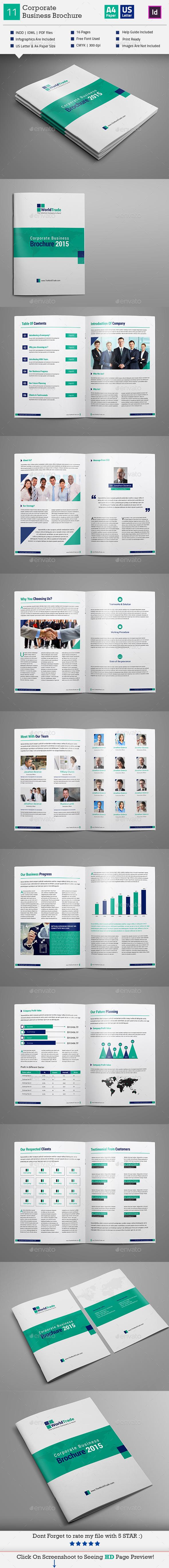 GraphicRiver Corporate Business Brochure Indesign V11 11268479