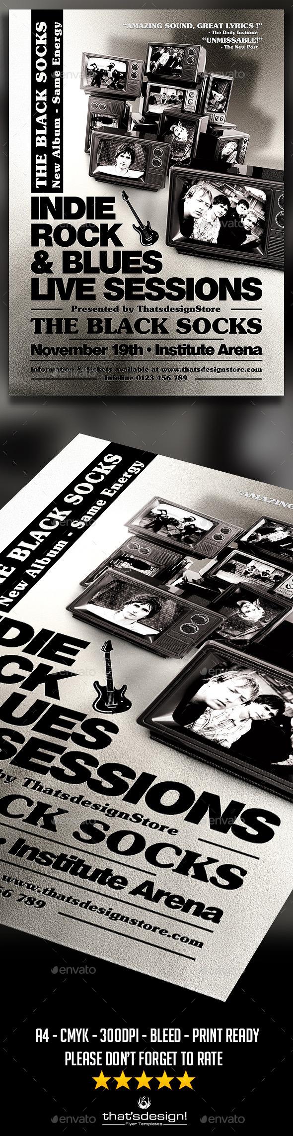GraphicRiver Live Concert Flyer Poster Template V4 11268489