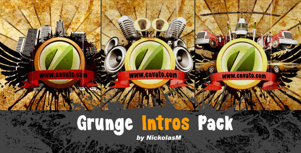 After Effects Project - VideoHive Grunge Intros Pack 1097621