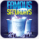 Famous Saturdays Drink Cup Flyer Template - GraphicRiver Item for Sale