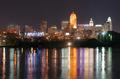 Dark Night Ohio River Cincinnati Downtown City Skyline - PhotoDune Item for Sale
