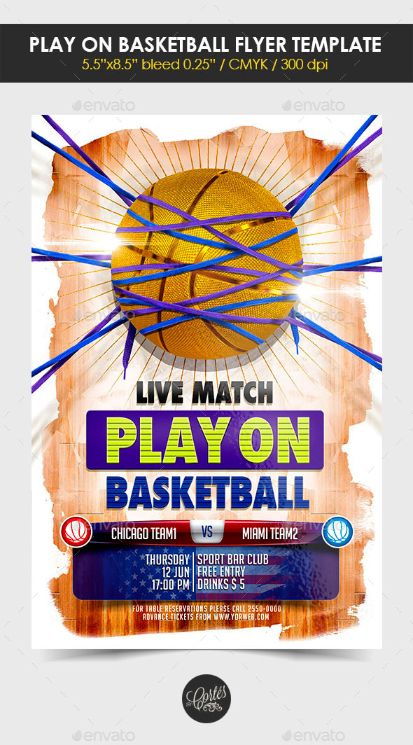 GraphicRiver Play On Basketball Flyer Template 11268949