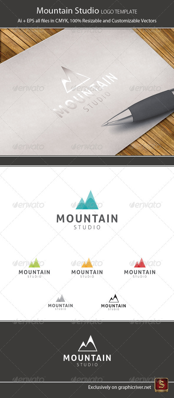 Mountain Studio Logo Template - Symbols Logo Templates