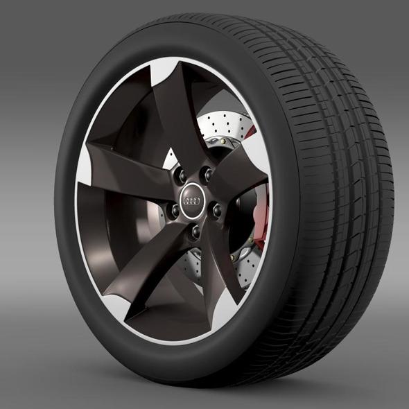 3DOcean Audi R8 Spyder wheel 11269256