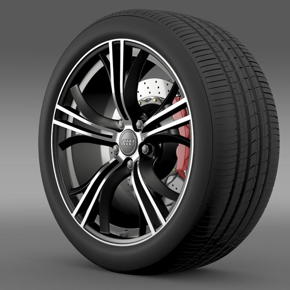 3DOcean Audi R8 V10 Exclusive wheel 11269308