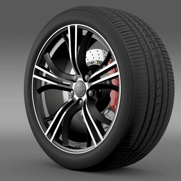 Audi R8 V10 Exclusive wheel - 3DOcean Item for Sale