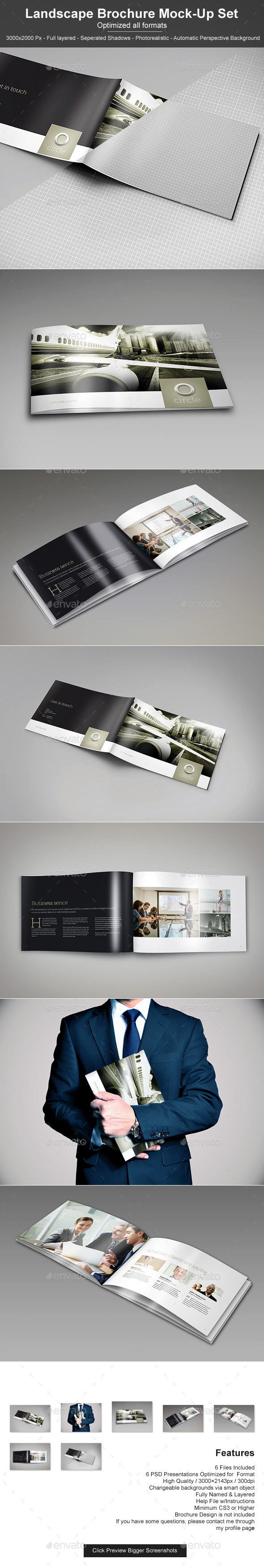 GraphicRiver Landscape Brochure Mock-Up Set 2 11269351