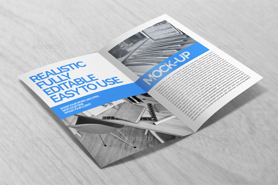 how to set up a brochure in photoshop