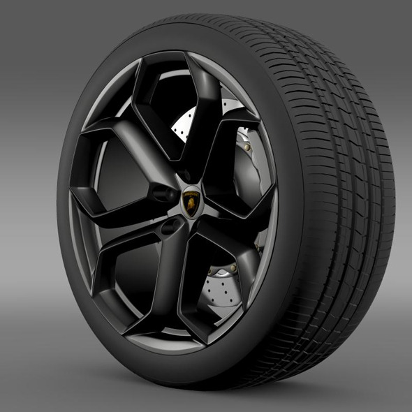 Lamborghini Aventador wheel - 3DOcean Item for Sale