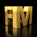 FM gold letters - PhotoDune Item for Sale