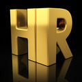 HR gold letters - PhotoDune Item for Sale