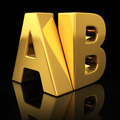 AB gold letters - PhotoDune Item for Sale