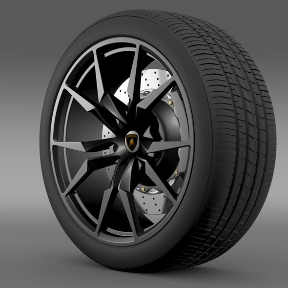 Lamborghini Aventador50 AE wheel - 3DOcean Item for Sale