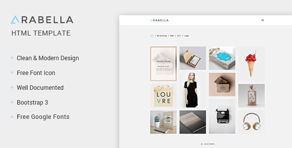 arabella portfolio html template