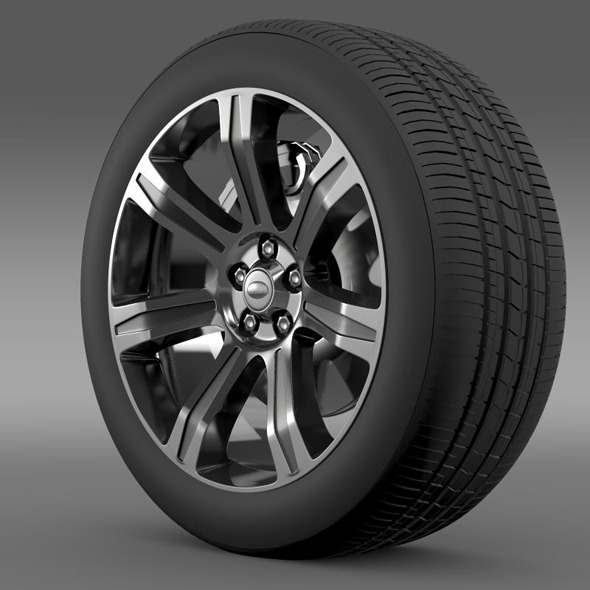 RangeRover Autobiography black wheel - 3DOcean Item for Sale