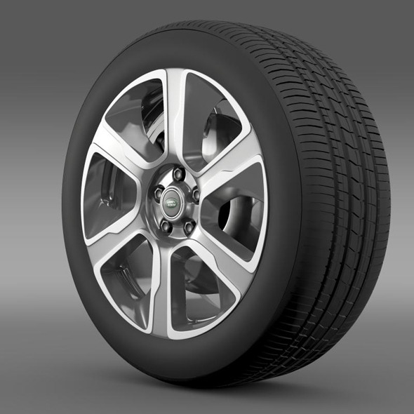 RangeRover Hybrid wheel - 3DOcean Item for Sale