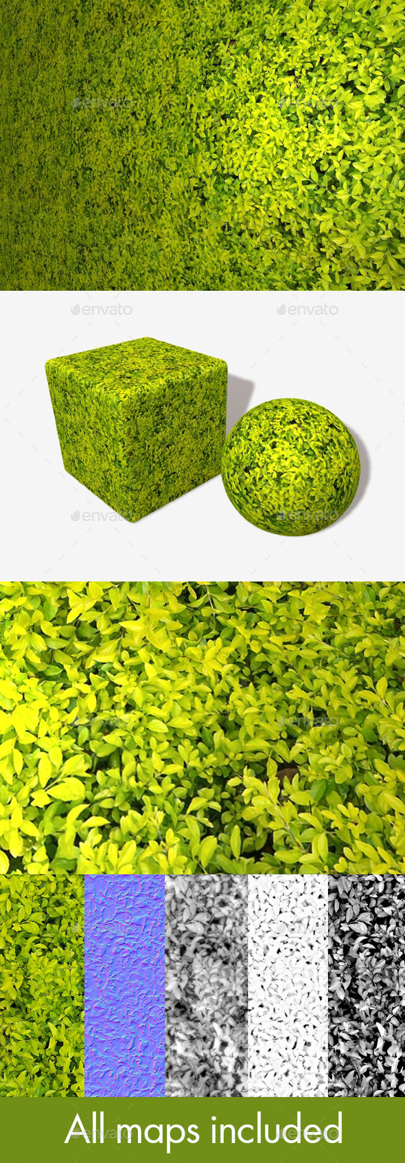 3DOcean Small Bright Leaves Seamless Texture 11269586