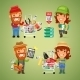 Farmers Purchases Equipment for Gardening - GraphicRiver Item for Sale