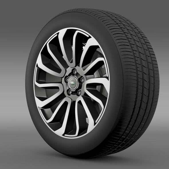 RangeRover V8 wheel - 3DOcean Item for Sale