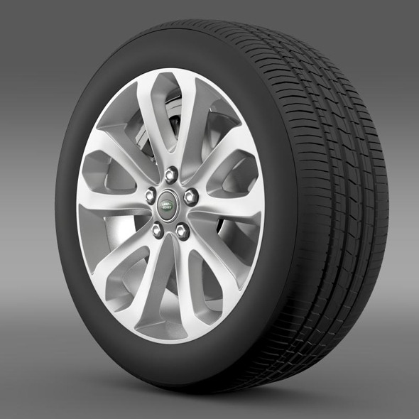 RangeRover Vogue SDV8 wheel - 3DOcean Item for Sale