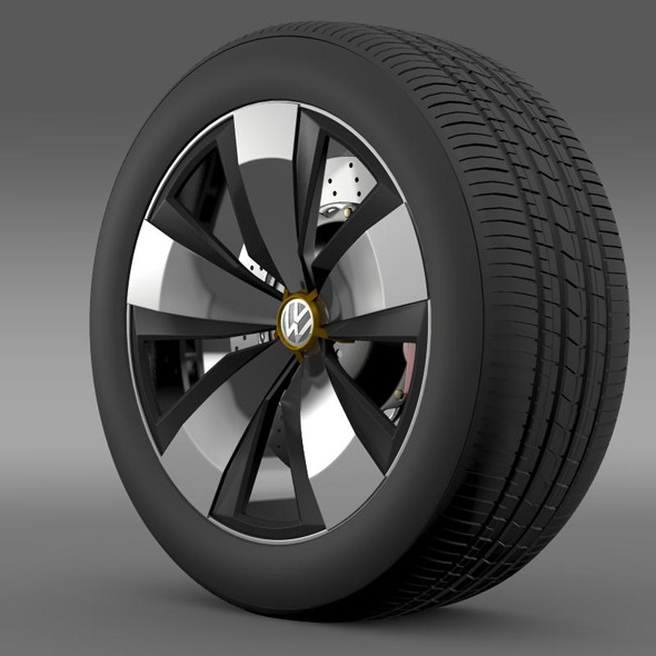 Volkswagen Beetle Dune wheel - 3DOcean Item for Sale