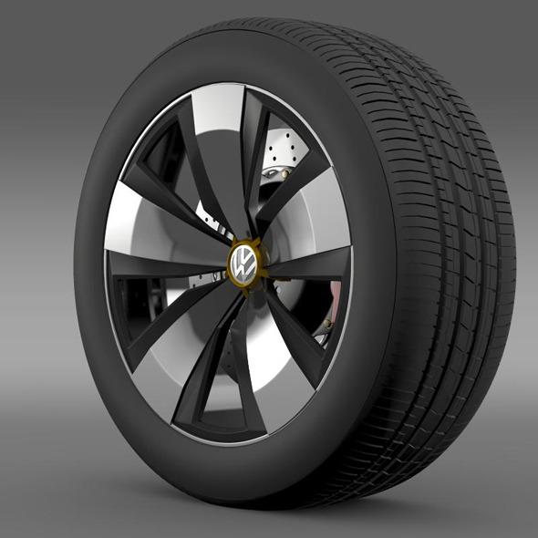 3DOcean Volkswagen Beetle Dune wheel 11269640