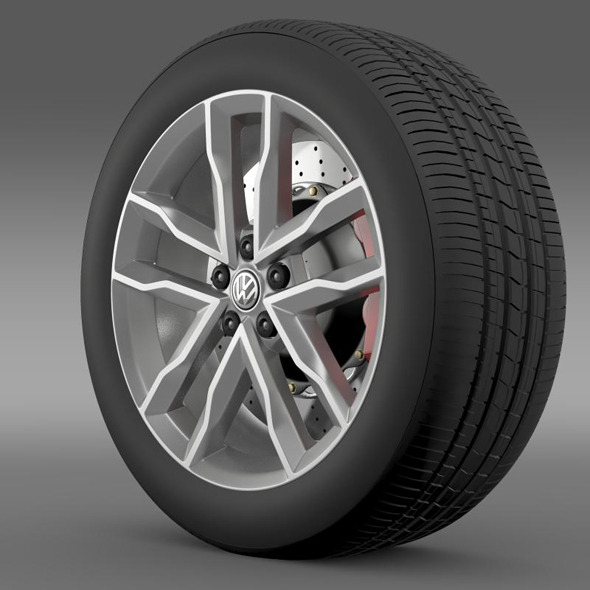 3DOcean Volkswagen Polo TSI Bluemotion wheel 11269647