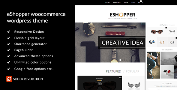 ThemeForest eShopper WooCommerce WordPress Theme 10852415