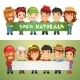 Farmers Presenting Horizontal Banner - GraphicRiver Item for Sale