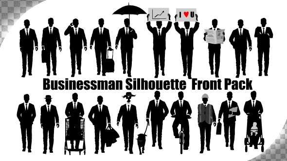 Businessman Silhouette Front Pack