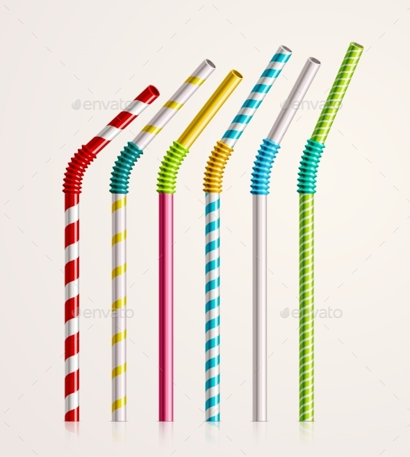 GraphicRiver Drinking Straws 11269878