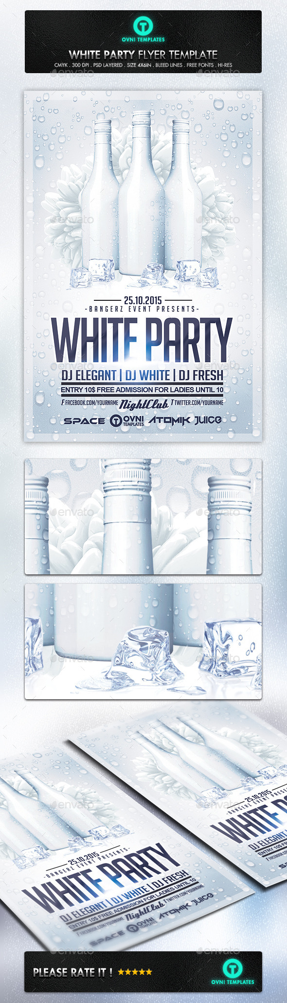GraphicRiver White Party Flyer Template 11269911