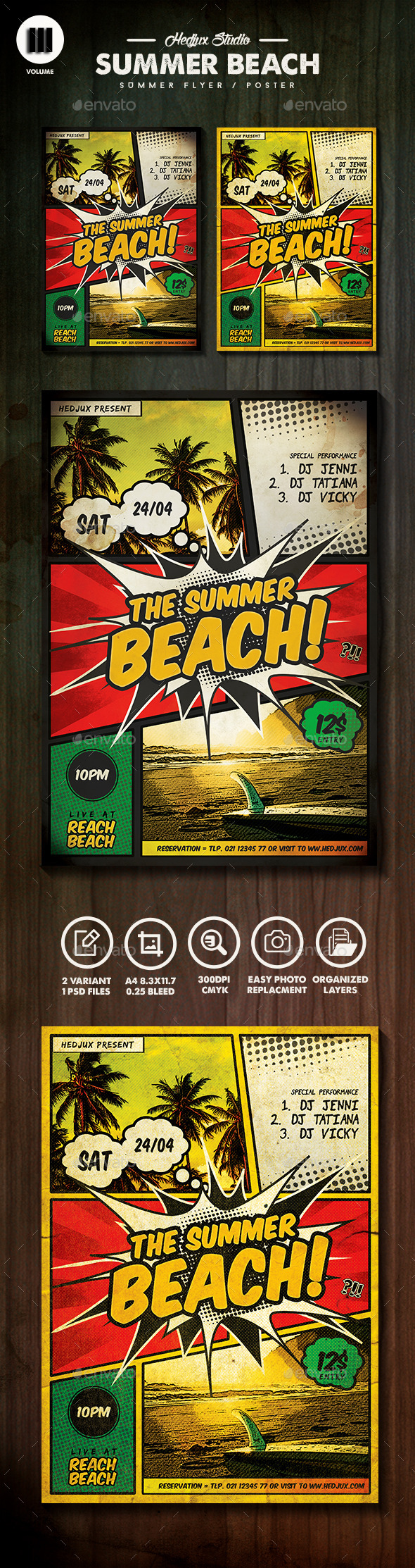 GraphicRiver The Summer Beach Comic Flyer 11270101