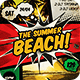 The Summer Beach Comic Flyer - GraphicRiver Item for Sale