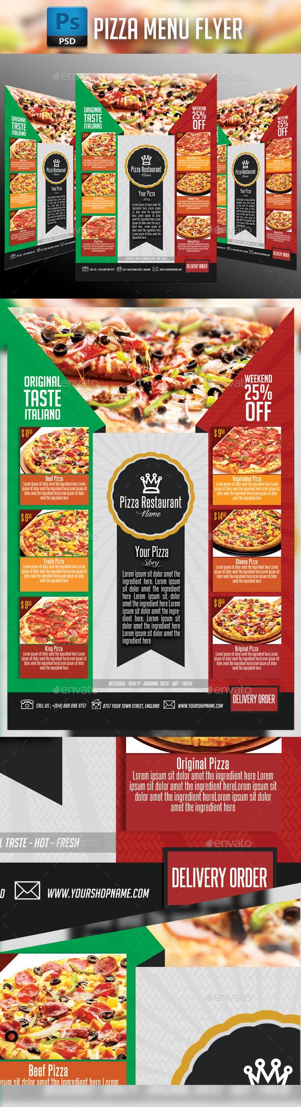 GraphicRiver Pizza Flyer Menu 11270107