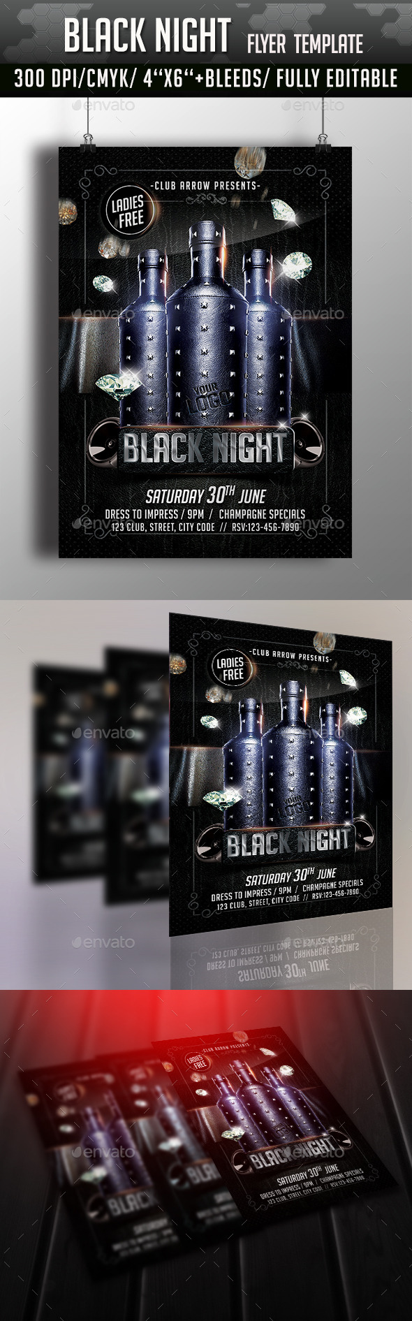 GraphicRiver Black Night Party Flyer 11270281
