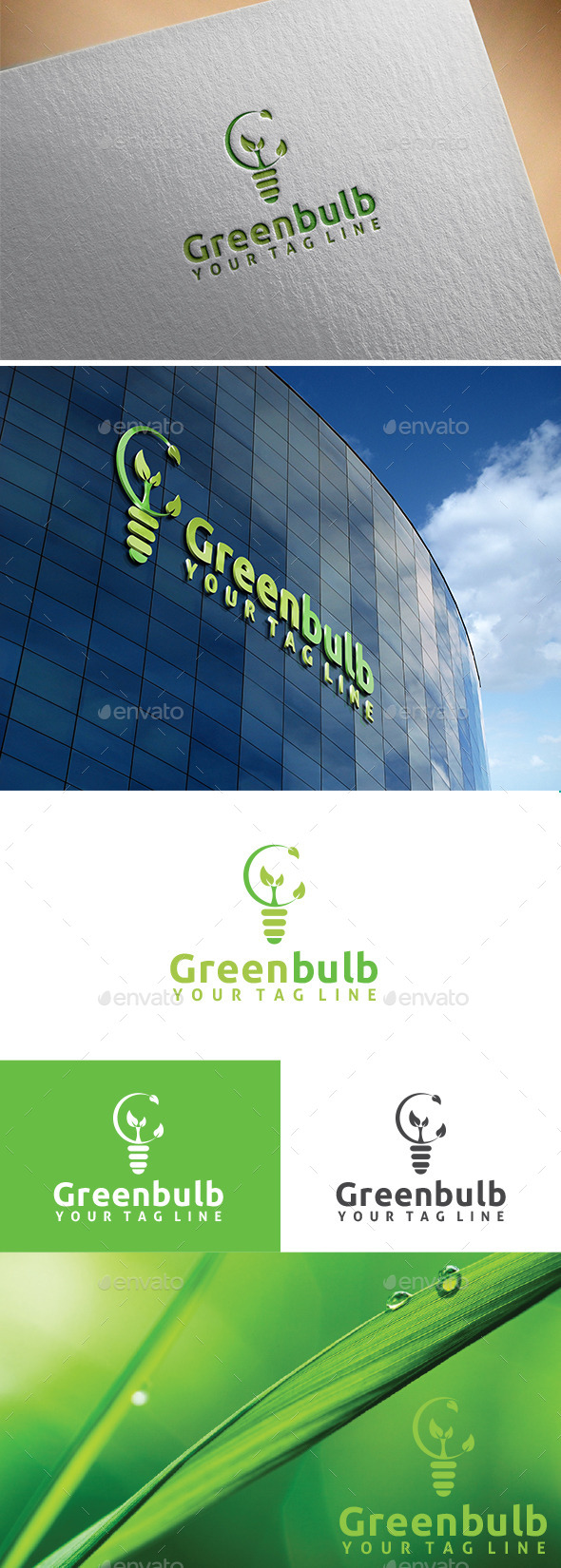 GraphicRiver Green Bulb Logo 11270386