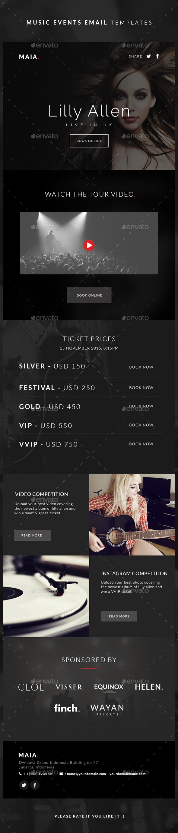 GraphicRiver Music Events Email Templates Maia 11270691