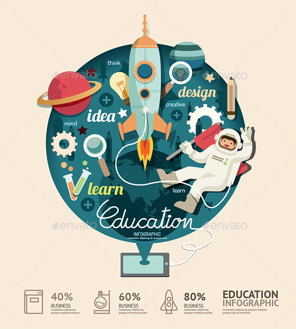 GraphicRiver Education Design Infographic 11270693