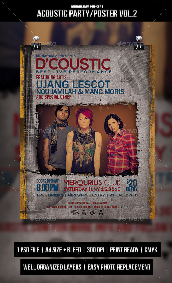 GraphicRiver Acoustic Party Flyer Poster 11270715