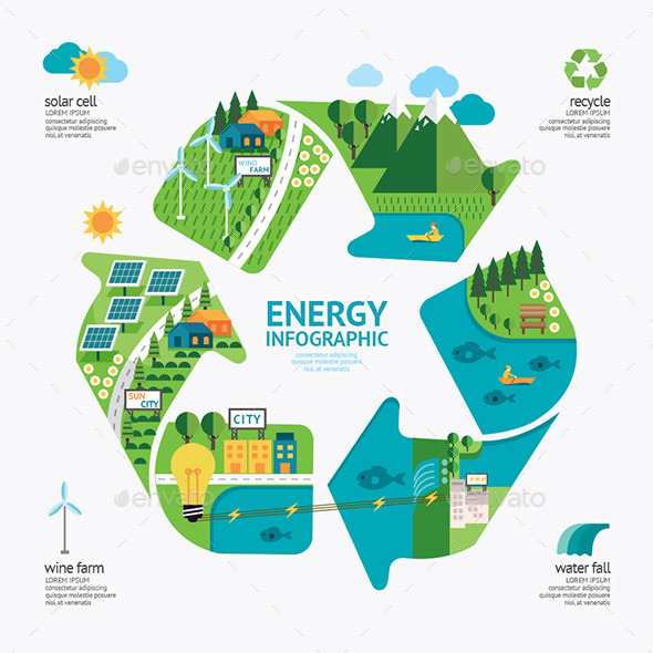 GraphicRiver Infographic Energy Template Design Protect World 11270716