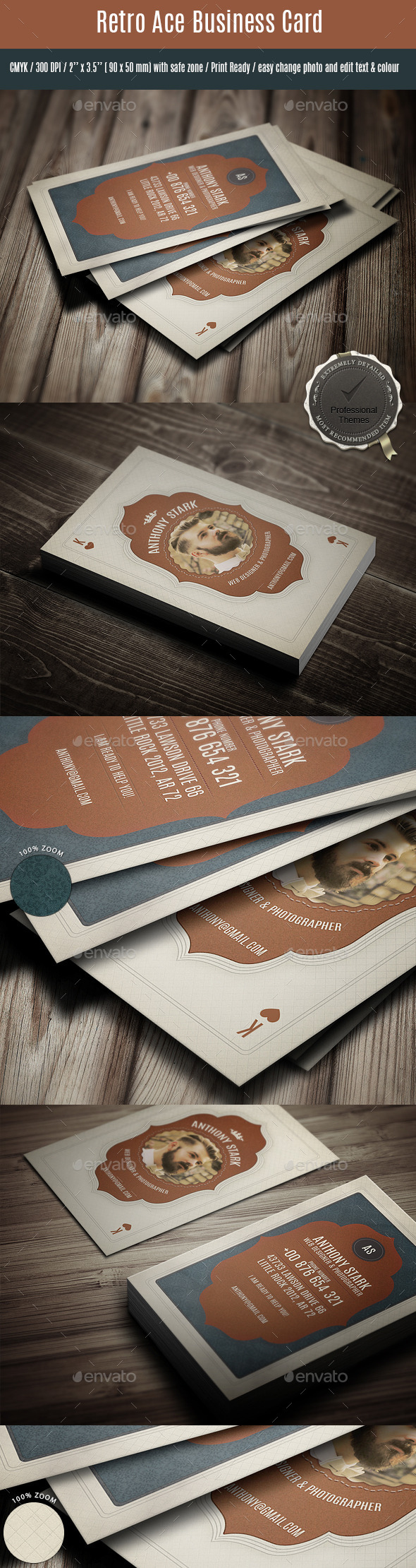 GraphicRiver Retro Ace Business Card 11169357