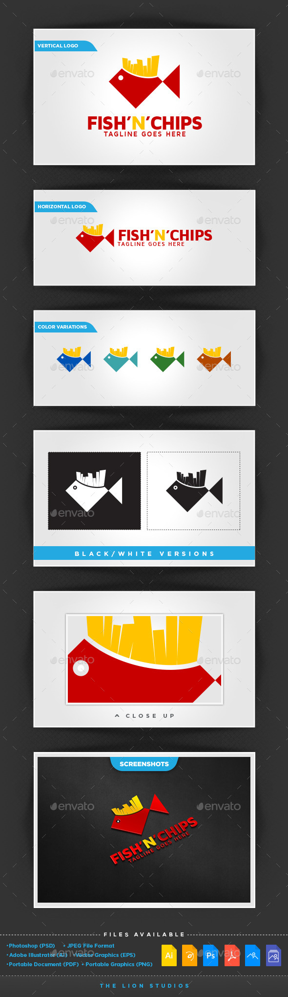GraphicRiver Fish n Chips Logo Template 11270999